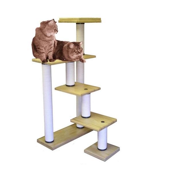 【最高級キャットタワー 据え置きタイプ】階段ツインMB-DX【据え置きタイプ】【最高級】【頑丈】