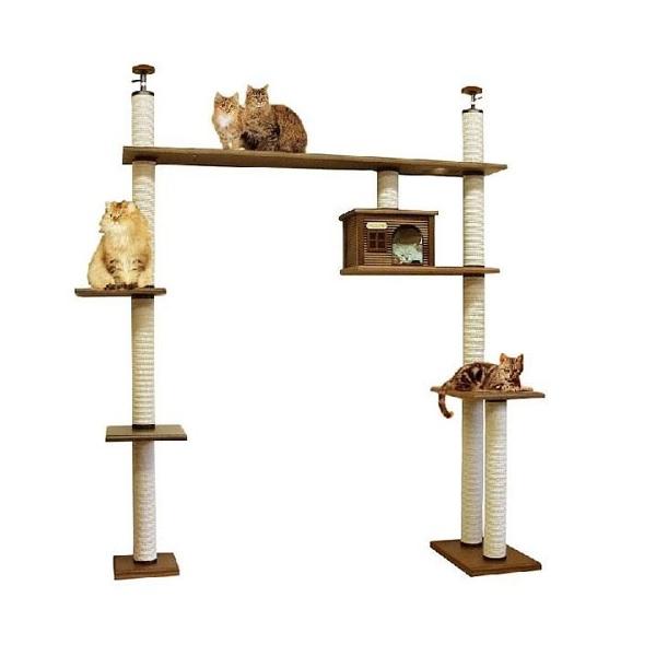 【大型キャットタワー】ブリッジタワーA-DX [天井高2300mm~2500mmHまで対応] 代引き不可商品【猫 キャットタワー 猫タワー】【大好評】】【長年使用可能】【頑丈】【プロ仕様】【ブリーダー推奨キャットタワー】