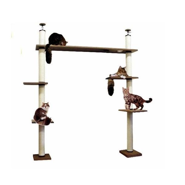 【大型キャットタワー】ブリッジタワーB1-DX [天井高2300mm~2500mmHまで対応] 代引き不可商品【猫 キャットタワー 猫タワー】【大好評】】【長年使用可能】【頑丈】【プロ仕様】【ブリーダー推奨キャットタワー】