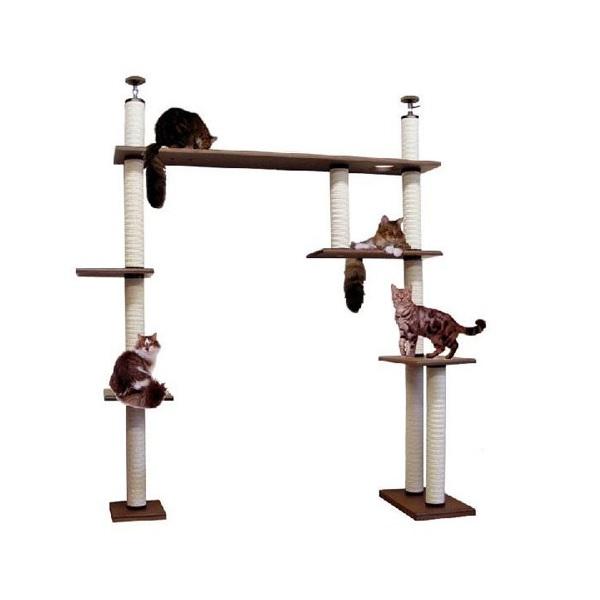 【大型キャットタワー】ブリッジタワーB2-DX [天井高2300mm~2500mmHまで対応] 代引き不可商品【猫 キャットタワー 猫タワー】【大好評】】【長年使用可能】【頑丈】【プロ仕様】【ブリーダー推奨キャットタワー】