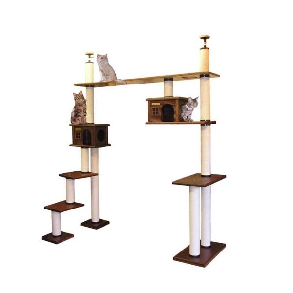 【大型キャットタワー】階段ブリッジタワーWA-DX [天井高2300mm~2500mmHまで対応] 代引き不可商品【猫 キャットタワー 猫タワー】【大好評】】【長年使用可能】【頑丈】【プロ仕様】【ブリーダー推奨キャットタワー】