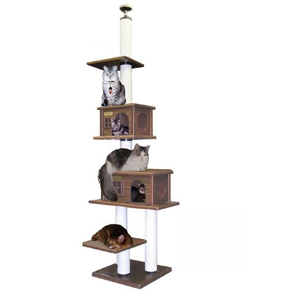 【キャットタワーのパイオニア】スリーキューブL-DX  [天井高2m25cm~2m45cmまで対応] 代引き不可商品【猫 キャットタワー 猫タワー】【おすすめ】【頑丈】【ブリーダー推奨品】