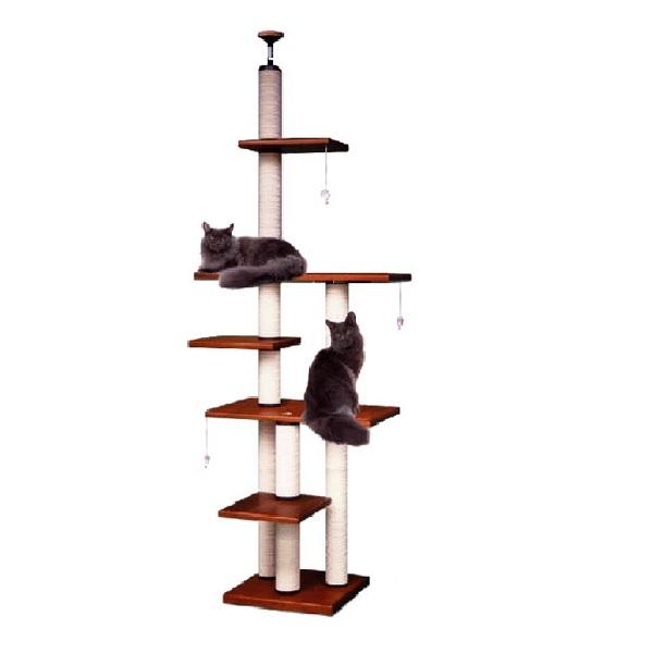【キャットタワーのパイオニア】ヘビーアスレチックXLB-DX  [天井高2m25cm~2m45cmまで対応] 代引き不可商品【猫 キャットタワー 猫タワー】【おすすめ】【頑丈】【ブリーダー推奨品】