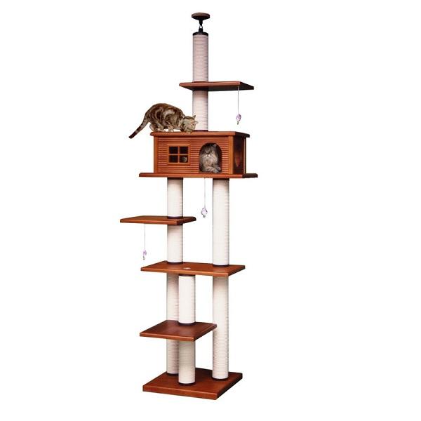 【キャットタワーのパイオニア】ヘビーアスレチックLRA-DX  [天井高2m25cm~2m45cmまで対応] 代引き不可商品【猫 キャットタワー 猫タワー】【おすすめ】【頑丈】【ブリーダー推奨品】