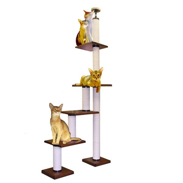 【キャットタワーのパイオニア】階段キティLB3段-DX  [天井高2m25cm~2m45cmまで対応] 代引き不可商品【猫 キャットタワー 猫タワー】【おすすめ】【頑丈】【ブリーダー推奨品】