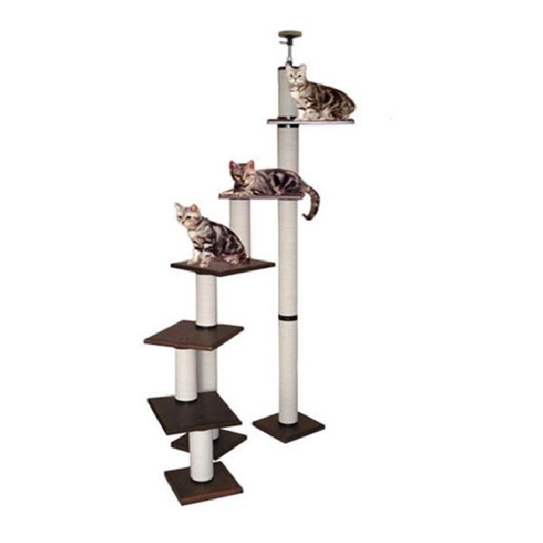 【キャットタワーのパイオニア】階段キティLB4段-DX  [天井高2m25cm~2m45cmまで対応] 代引き不可商品【猫 キャットタワー 猫タワー】【おすすめ】【頑丈】【ブリーダー推奨品】