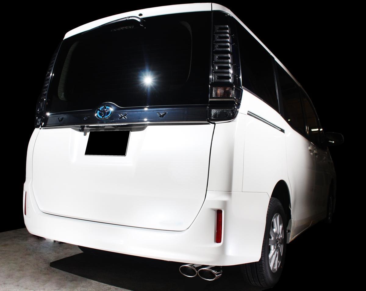 80VOXY 80ボクシー 80ヴォクシーマフラー リアピース片側出し 95φオーバル デュアル