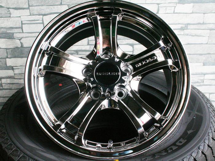 【即納OK】デリカ D5 エクリプスクロス 等に メッキ調特注色SMCキーラーフォース16×7.0J+35 5/114 マッドスター ラジアルM/T215/70R16 新品タイヤホイール4本SET