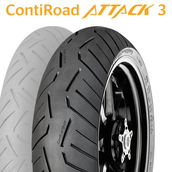 【2018年製】190/55ZR17 (75W) 【コンチネンタル】【CONTINENTAL】【Conti Road Attack 3】【コンチ ロード アタック 3 Rear】【ドイツ製】【新品】