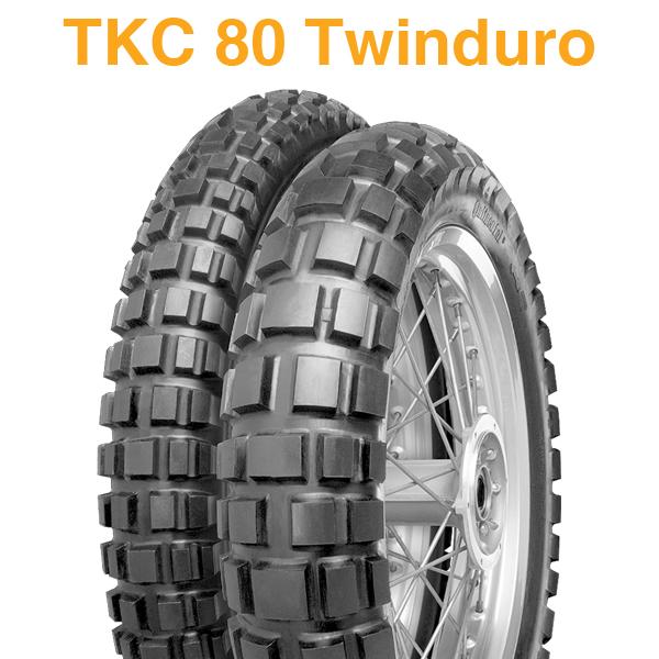 前後2本セット【2018年製】 120/70-19 60Q 【2018年製】 170/60B17 72Q 【コンチネンタル TKC80 ツインデューロ】 【CONTINENTAL TCK 80 Twinduro】