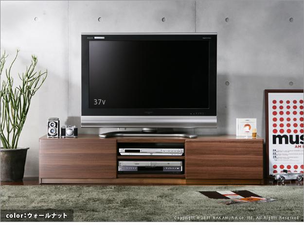 【送料無料】アウトレット 大幅値下げ/ウォールナット テレビボード 幅180 WN-180/テレビ台/ローボード