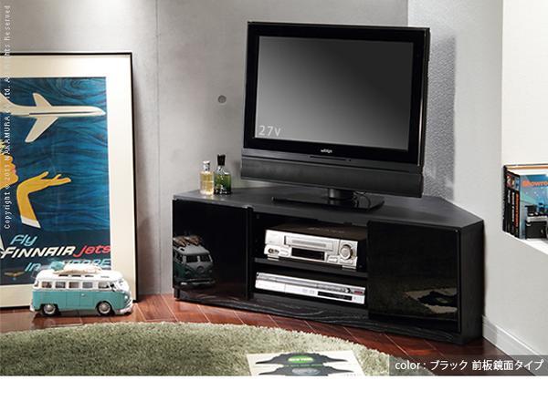【送料無料】アウトレット 在庫処分/ブラック コーナー対応テレビ台 BK-900/コーナーテレビボード