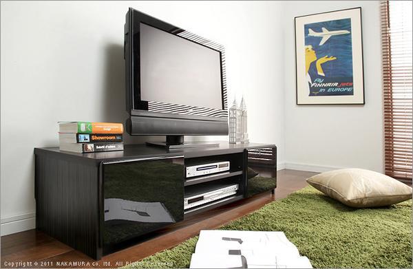 【送料無料】幅120cm 鏡面仕上げテレビ台 R-120/テレビボード/AV台/ローボード
