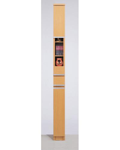 【送料無料】日本製・完成品のすきま家具 幅15 M-15A ナチュラル/隙間家具