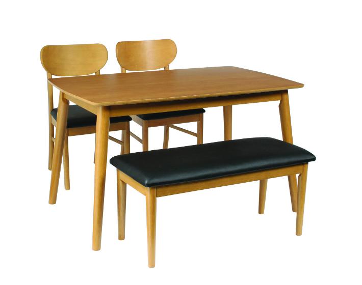 ダイニング4点セット シープ ベンチダイニング4点セット ダイニングテーブル (120cm幅/4人掛け用) ダイニングセット ナチュラル 食卓セット 送料無料