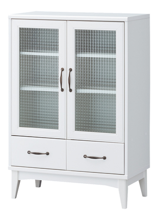 【送料無料】レトロモダン キャビネット ホワイト カップボード レトロア RTA-1175GH 食器棚