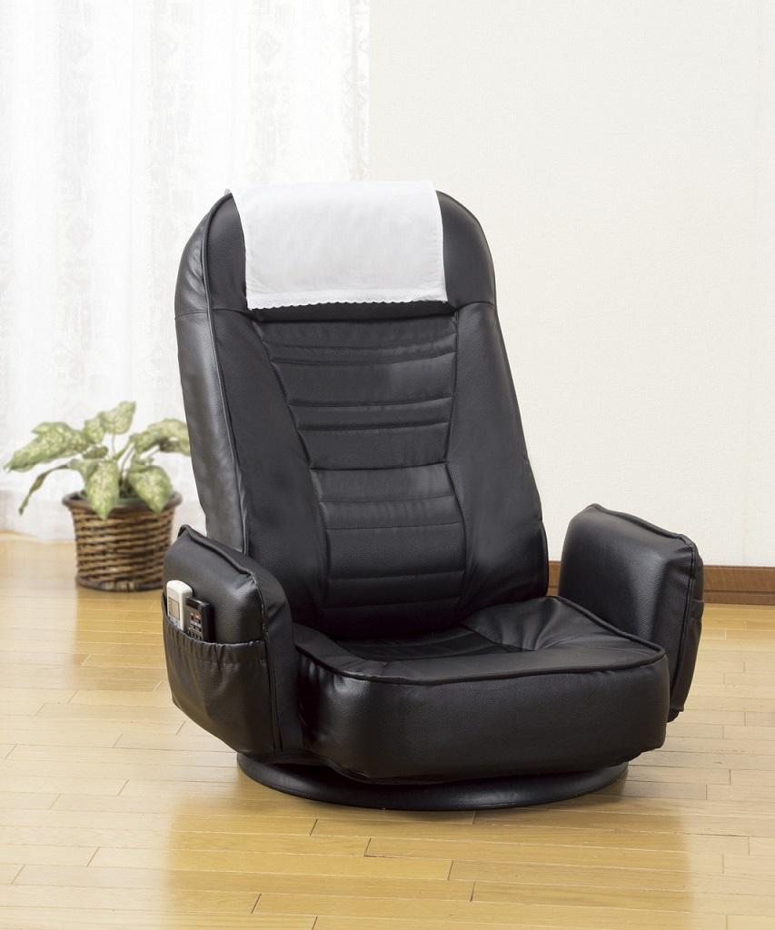 座椅子 リクライニング回転座椅子 回転式 リクライニング式 レザー ブラック グリーン ブラウン 座いす ザイス 贈り物 プレゼント 送料無料