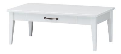 【送料無料】ローテーブル ホワイト レトロア RTA-9050T センターテーブル 引出し付き