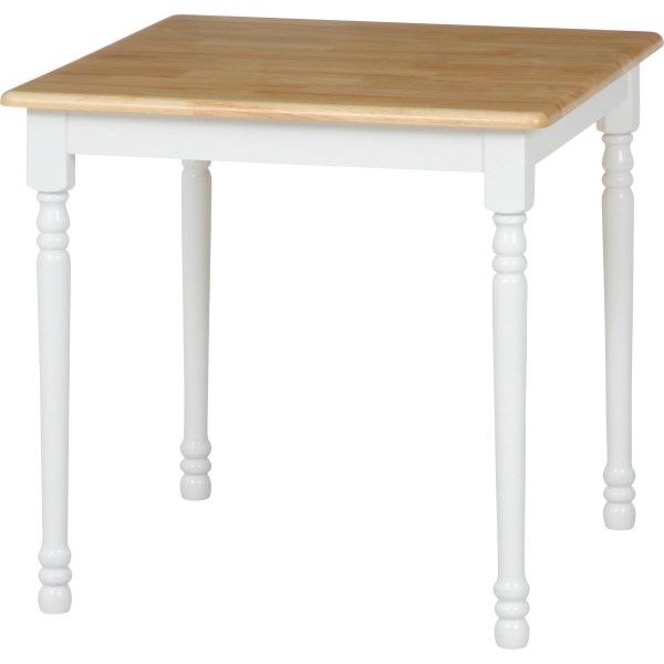 【送料無料】ダイニングテーブル 75cm 96667 ダイニングテーブルマキアート WH×NA(3点用)ホワイト ナチュラル