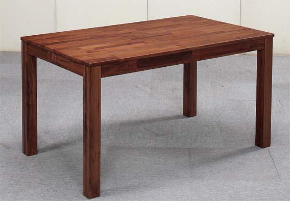 【送料無料】ウォールナット 無垢材 ダイニングテーブル 幅135 Dortmund(ドルトムンド)ダイニングテーブル