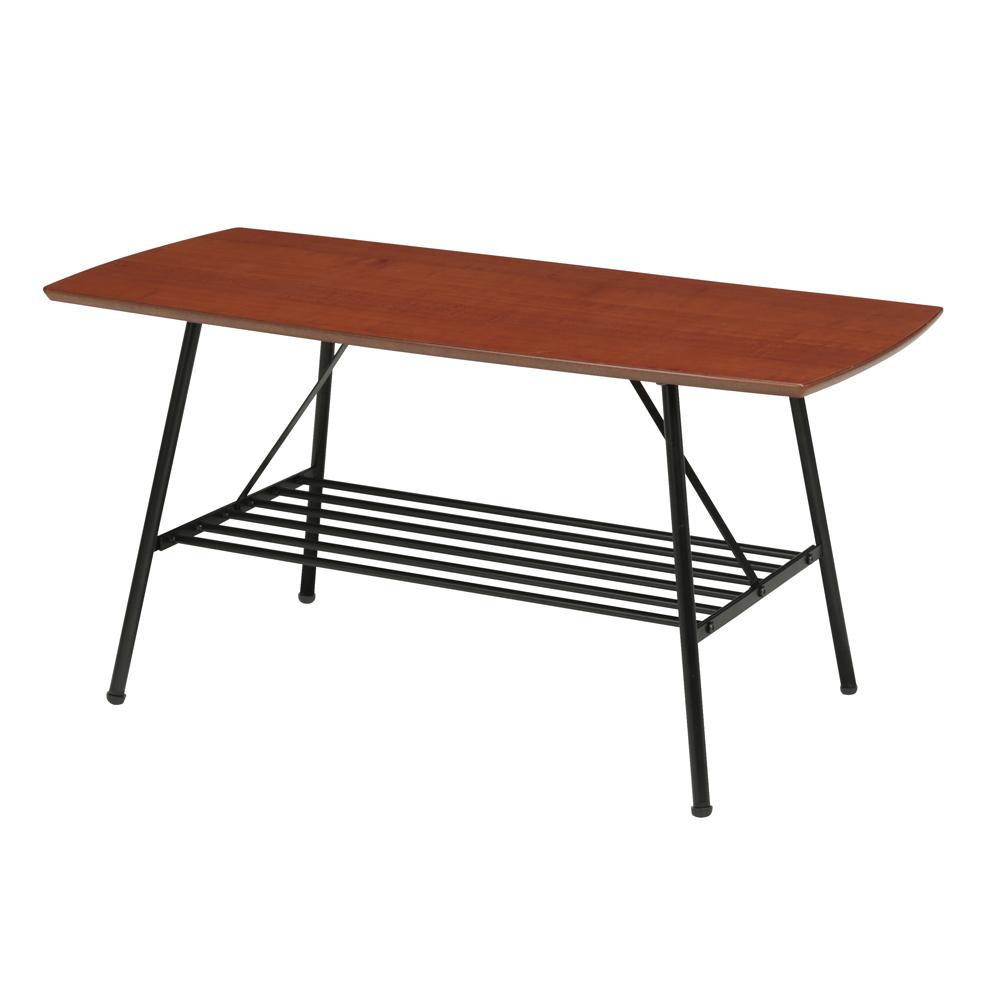【送料無料】ウォールナット センターテーブル 棚付き 幅850×奥行400×高さ410mm