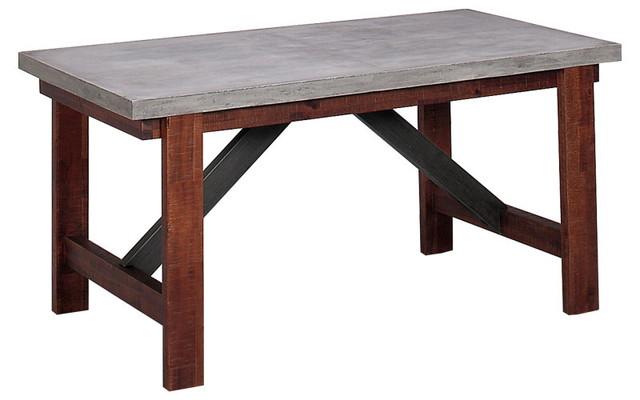 【送料無料】ダイニングテーブル バレンシア150 天板コンクリート ダイニングテーブル インダストリアル 男前インテリア
