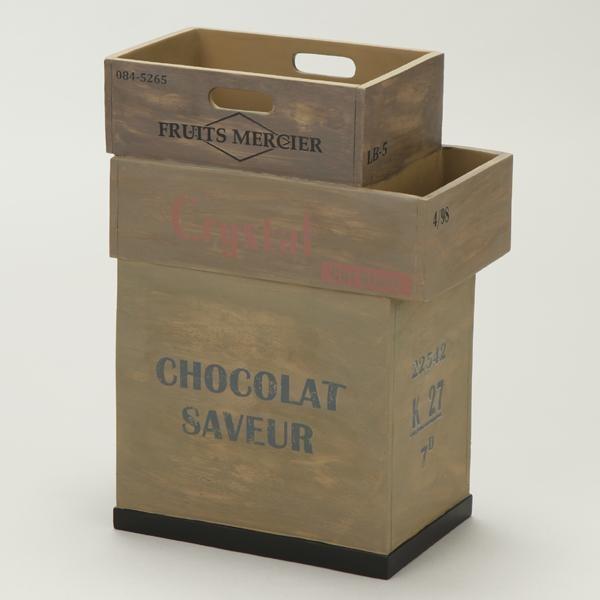 【送料無料】アンティーク風 傘立て(Antique Box)ナチュラル SR-0820 アンブレラスタンド カサタテ インテリア雑貨