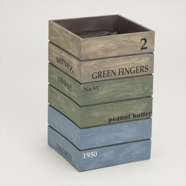 【送料無料】アンティーク風 傘立て(Antique Box ブルー SR-0821-BL アンブレラスタンド カサタテ インテリア雑貨