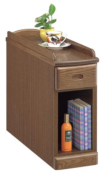 【送料無料】スリムナイトテーブル 幅20 オープンタイプ 寝室収納 ベッドサイド オーク ナチュラル ダーク 木製 日本製 完成品 スリム すき間収納 すき間