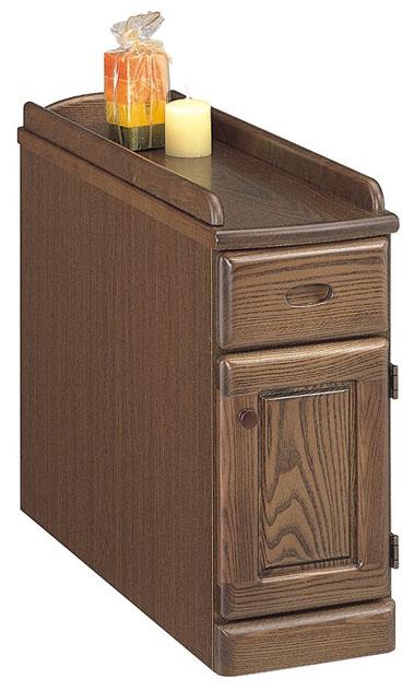【送料無料】スリムナイトテーブル 幅20 扉タイプ 寝室収納 ベッドサイド オーク ナチュラル ダーク 木製 日本製 完成品 スリム すき間収納 すき間