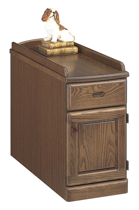 【送料無料】スリムナイトテーブル 幅25 オープンタイプ 寝室収納 ベッドサイド オーク ナチュラル ダーク 木製 日本製 完成品 スリム すき間収納 すき間