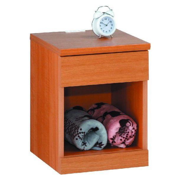 【送料無料】ナイトテーブル ルナ A 幅35 引出タイプ 寝室収納 ベッドサイド ナチュラル ダーク 木製 日本製 完成品 すき間収納 すき間 引出し