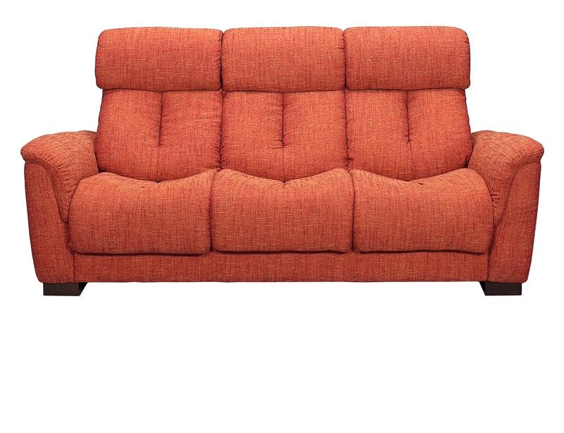 【送料無料】3Pソファー オペラ 3Pソファ ブラウン オレンジ ネイビー 3人掛けソファー ハイバックソファー 座面硬め
