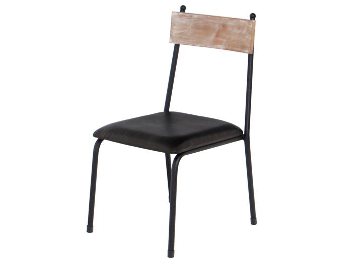 【送料無料】ダイニングチェアー 杉古材 チェアー イス 椅子 ヴィンテージ風 アンティーク風 ブラックスチール