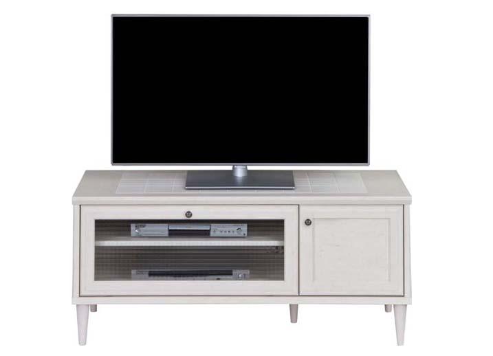 【送料無料】日本製 完成品 テレビ台 バーラム TV-120L RWH ホワイト テレビボード キャビネット