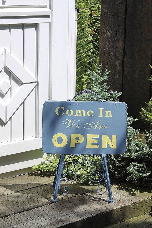 オープン&クローズロウスタンド ウェルカムボード ウェルカムスタンド 店舗 看板 アイアン ブルー OPEN CLOSE 店舗ディスプレイ