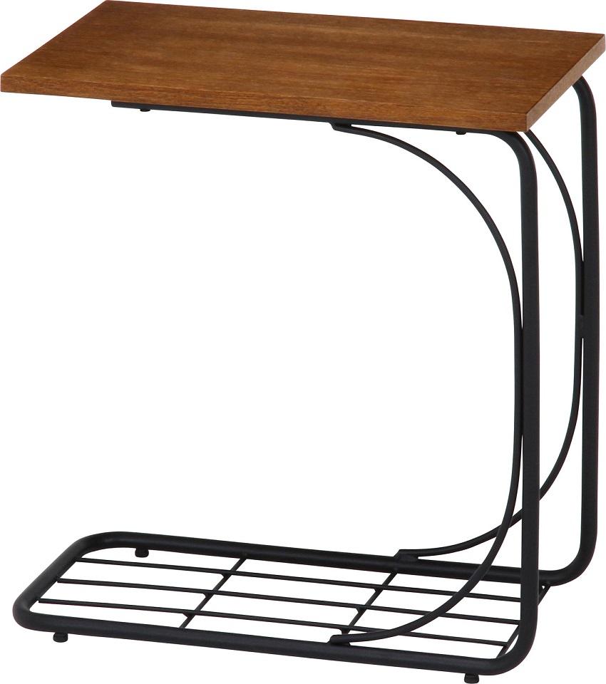 サイドテーブル レアル ソファー用テーブル アンティーク調 テーブル アイアン脚 レトロ 送料無料