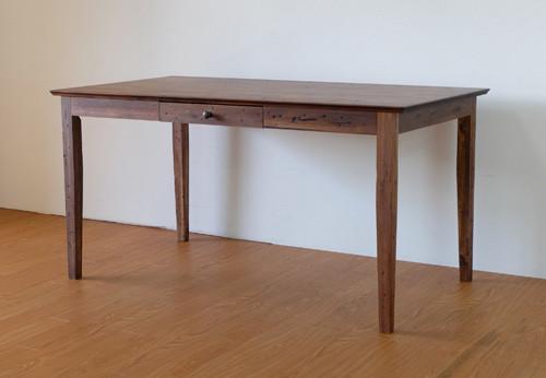 ヴィンテージ風 ダイニングテーブル ダメージ加工 幅140cm アカシア無垢材 古材風 テーブル