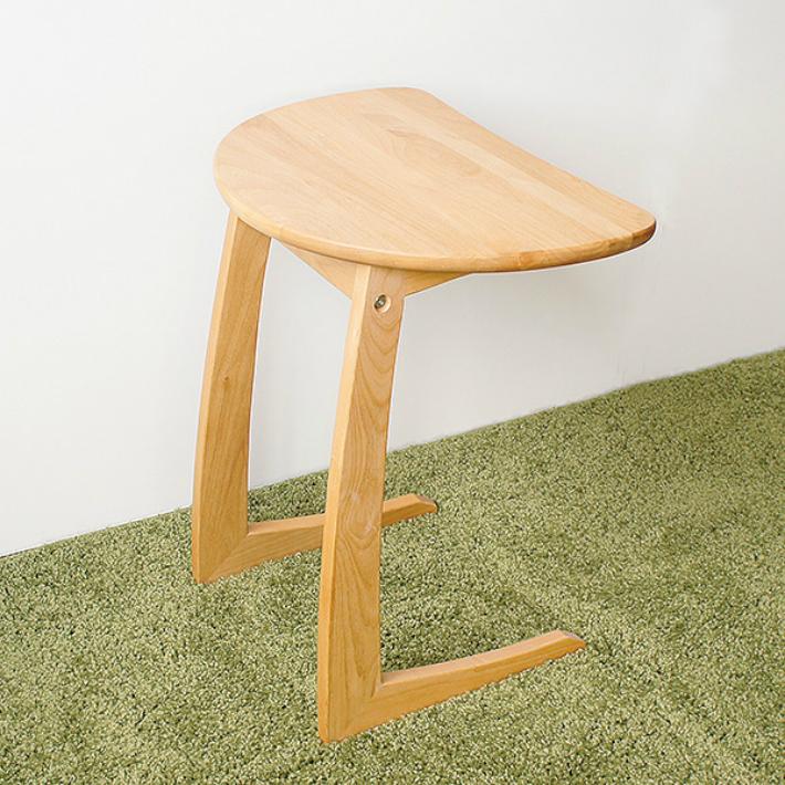 【送料無料】無垢材 高級 サイドテーブル ブラウン ナチュラル クーパーFS サイドテーブル アルダー無垢材 オイル塗装