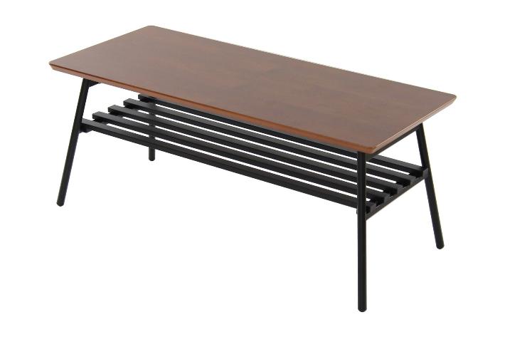 【送料無料】ウォールナット センターテーブル ローテーブル 高さ39cm 折りたたみ式 センターテーブル
