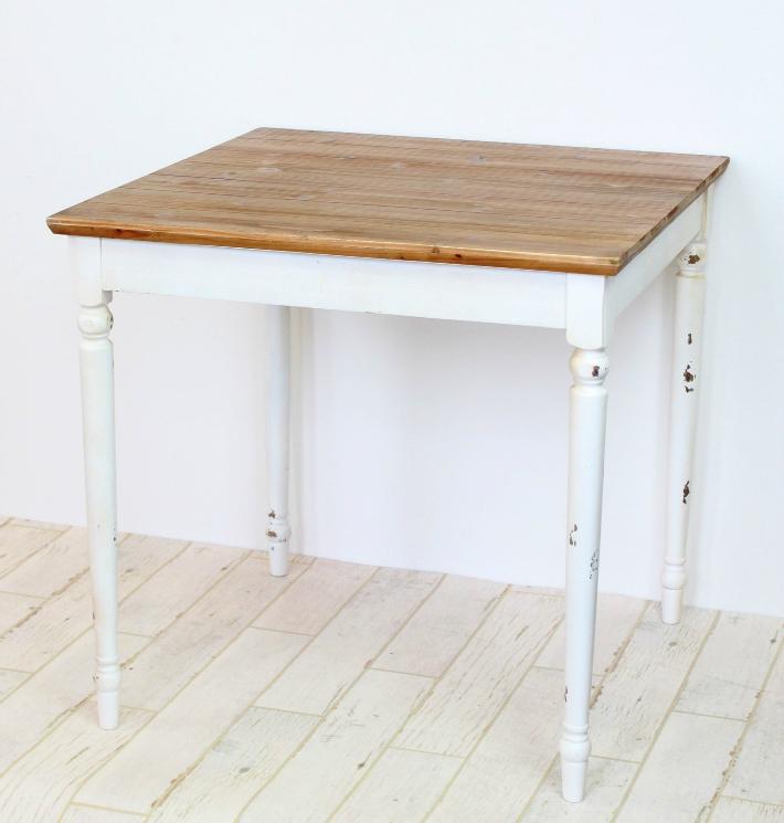 【送料無料】カントリー調 ダイニングテーブル フレンチカントリーテーブル アンティーク風テーブル 店舗テーブル