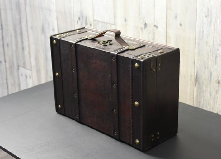 アンティーク調 トランク 木製スーツケース型トランク ブラン ディスプレイ アンティーク 小物入れ