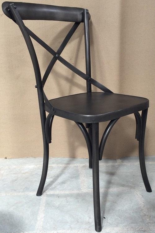 【送料無料】アイアン チェアー カフェチェアー ヴィンテージ風チェアー イス 椅子 店舗什器 アイアンクロスバックチェア ウィズ