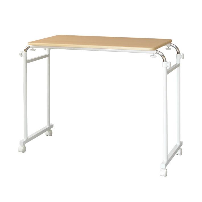 【送料無料】ベッドテーブル 高さ・幅が調節可能 キャスター付き 介護テーブル 補助テーブル