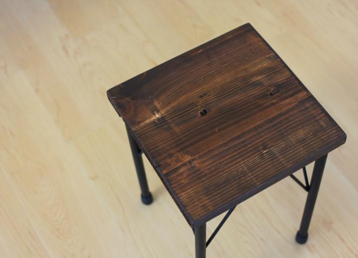 ヴィンテージ風 スツール アイアン脚 サイドテーブル アンティーク調スツール 椅子 カフェ風 イス ビンテージ風 オシャレ 店舗スツール
