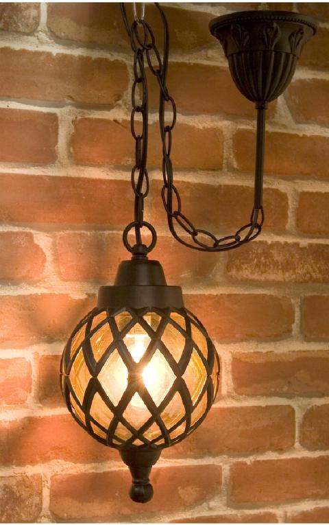 アベニューランプ[ペンダントランプ バルーン]【1灯】アンティーク調 照明 外灯風ウォールランプ ブラック、ブロンズ、ホワイト 天井からの吊り下げ型のランプ