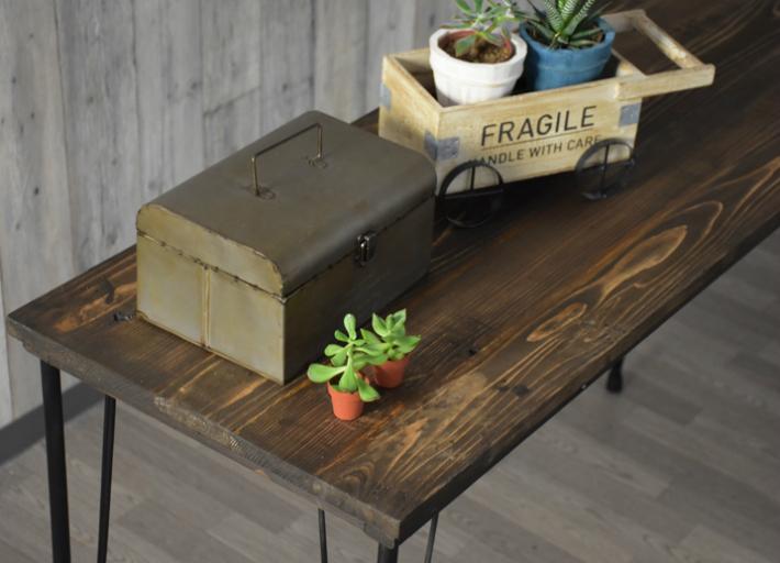 テーブル天板とアイアン脚のセット 1050x450 アンティーク調 オシャレ カフェ風 ヴィンテージ風テーブル 天板のみ ダイニングテーブル天板 カフェ風テーブル 古木風 天板 カウンターテーブル コンソールテーブル
