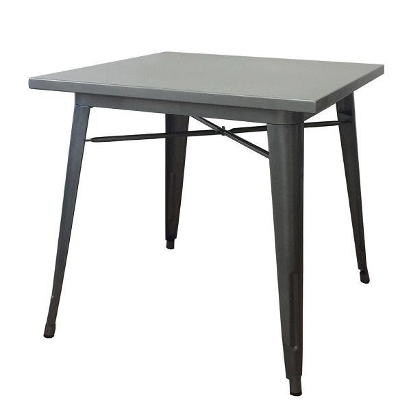 メタル カフェテーブル 店舗用テーブル 80cm イニングテーブル/メタルテーブル シルバーテーブル