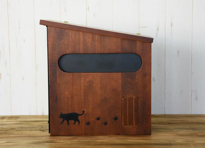 メールボックス 木製ポスト 壁掛けポスト 郵便ポスト 猫 キャット