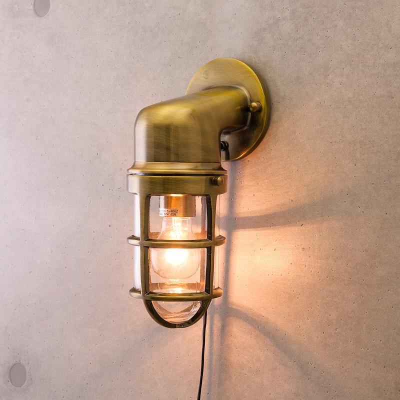 【送料無料】ヴィンテージ風 ウォールランプ 壁照明 ヴィンテージウォールランプ[サブマリン ブラケット(ブロンズ)]LED対応<E26/梨型>